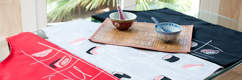 el delantal perfecto para preparar tu sushi casero