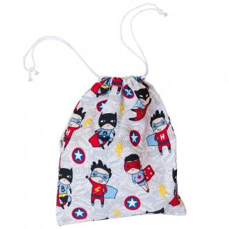 bolsa de merienda de tela superhéroe