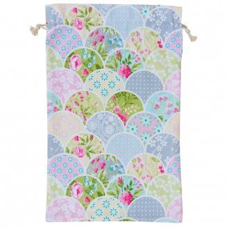 Bolsa de pan estampada patchwork flores