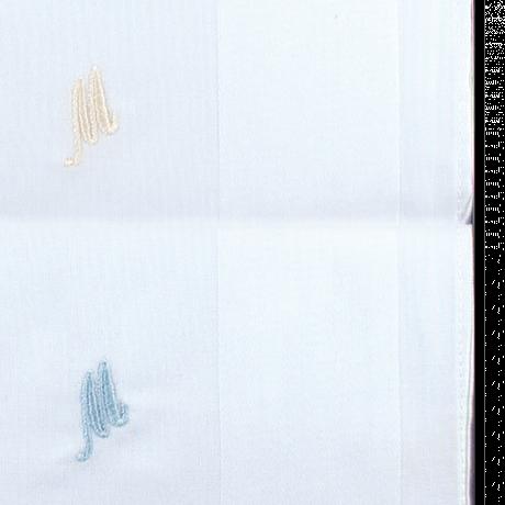 pañuelo blanco bordado para señor