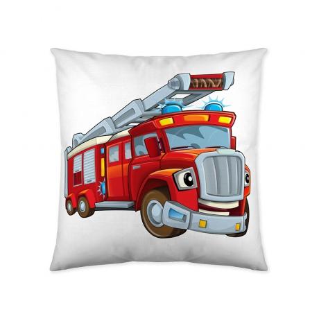 funda cojin estampada bombero